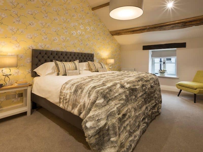 lake district cartmel romantic cottage for couples wharton loft bedroom